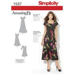 Simplicity Pattern 1537 Misses' and Plus Size Amazing Fit Dress
