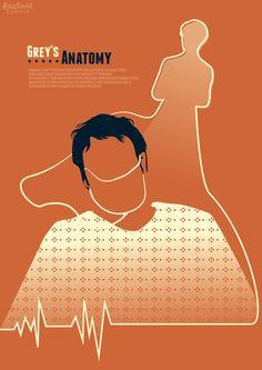 Ilustrações de episódios de Grey's Anatomy comemoram 12 anos da série