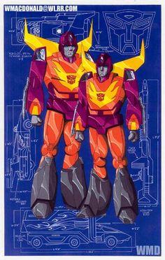 Hot Rod and Rodimus Prime
