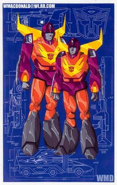 Hot Rod and Rodimus Prime