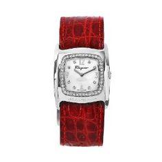 Salvatore Ferragamo Women's Vara Stainless Steel Mother-Of-Pearl Dial Watch #luxurywatches #luxurywatchclub #ferragamo