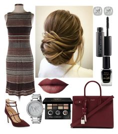 """""""classy and casual"""" by brianna-goodwin on Polyvore featuring Sam Edelman, Ralph Lauren, Yves Saint Laurent, Michael Kors, Frederic Sage, MAC Cosmetics, Bobbi Brown Cosmetics and Barry M"""