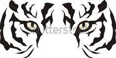 Resultado de imagen para caras de tigres dibujos