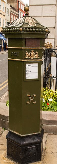 A Victorian post box.