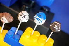 Legos and Light Sabers Party | Star Wars Cake Pops