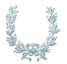 Vintage Clip Art - French Wreath Engraving - The Graphics Fairy