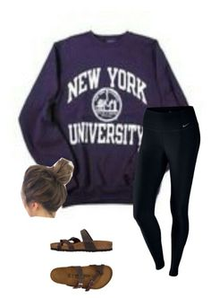 """Untitled #77"" by faithjones1223 on Polyvore featuring NIKE and Birkenstock"