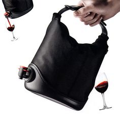 This wine purse is perfect gift for the wine lover! It's a very cool idea to easily store bags of wine without the hassle of a box. Looks very much like a small purse and fits wine bag easily and… I NEED THIS FOR MY BIRTHDAY KAYLA PURDY!