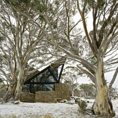 Architect Giovanni D'Ambrosio has designed the Under the Moonlight House, located in Mount Hotham, Australia.