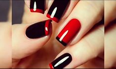Here are stunning french manicure ideas between classic and modern french manicure designs like gel french manicure, reverse french manicure and more! Nail Art Designs, Nail Polish Designs, Nail Polish Colors, Red Tip Nails, Black Nails, Hair And Nails, Gel French Manicure, French Tip Nails, Accent Nails
