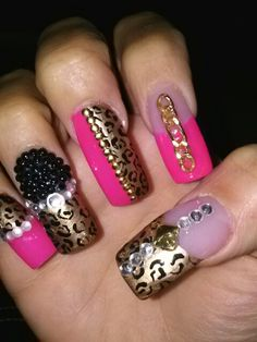Pink and gold design. Done by tuti
