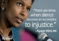 Ayaan Hirsi Ali, the amazingly brave woman who escaped the terrible oppression of islam, and speaks out around the world against the violence and injustice of islam. An true inspiration to all women.