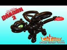How to Train Your Night Fury Dragon Balloon Animal Night Fury Dragon, Balloon Cartoon, How To Make Balloon, Balloon Animals, Chinese Dragon, Weird Art, How To Train Your, 9th Birthday, Balloon Decorations