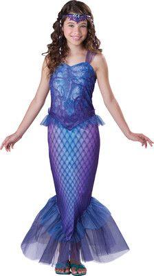 Girls Tween Blue/Purple Mermaid Halloween Costume Sizes 8-14 | eBay