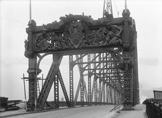 1918 Pittsburgh's Historic Northside - Manchester Bridge.  Beautiful work.  No longer there.