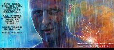 Roy Batty - Blade Runner - Print Edition by DanielMurrayART on DeviantArt Blade Runner Art, Blade Runner 2049, Blade Runner Characters, Art Manifesto, Roy Batty, Suspense Movies, Cult Movies, Animation, Character Portraits