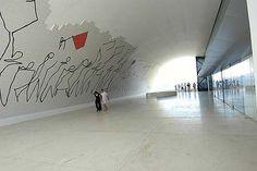Oscar Niemeyer interior do Teatro Popular de Niterói
