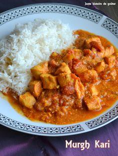 Juste histoire de goûter: Poulet Indian au Curry (Murgh Kari)
