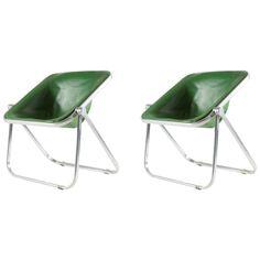 Pair of 'Plona' Chairs by Giancarlo Piretti for Anonima Castelli   1stdibs.com