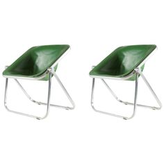 Pair of 'Plona' Chairs by Giancarlo Piretti for Anonima Castelli | 1stdibs.com