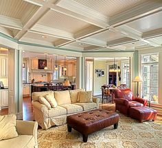 5 Ways to give a new house architectural charm. Interior Architectural Details - Ceiling Coffers
