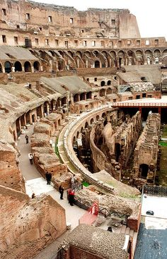 Interior do Coliseu, Roma, Itália.