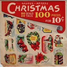 Vintage Christmas Ephemera ~ Christmas Seals and Tags