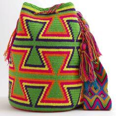 Wayuu Boho Bags with Crochet Patterns Crochet Clutch Pattern, Crochet Patterns, Love Crochet, Diy Crochet, Crochet Bags, Mochila Crochet, Yellow Handbag, Boho Bags, Tapestry Crochet