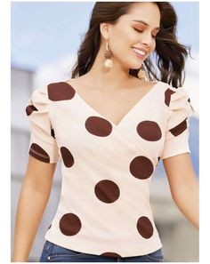Trendy Outfits, Fashion Outfits, Polka Dots, Cold Shoulder Dress, Celebrities, Tees, Crochet, Sleeves, Dresses