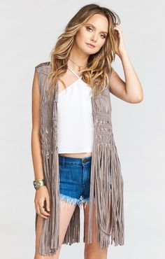 Turns any outfit into a completely envy worthy ensemble. Dreamweaver Fringe Vest is that piece you need to go from hometown ho-home to foreign fiesta. With denim, solids, and sneaks she can't be stopped. Oh, and please please please don't forget to snap a vid twirling with this darling. You'll be super bummed if you forget!! *75% Viscose, 25% Poly *Basically Wrinkle-proof. Throw in purse for later recommended