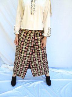 60s I Magnin Tapestry Skirt Supermodel Designer Maxi Skirt Size L Evening Wear…
