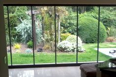 frameless glass room divider doors - Google Search