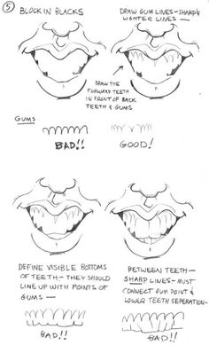 How to Draw Caricatures: Mouths | Tom's MAD Blog!
