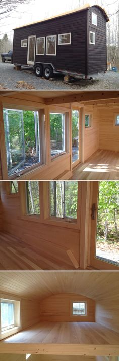 The Refuge House is a 24' tiny house created by Full Moon Tiny Shelters. All of the wood used in this tiny house was grown and milled in Nova Scotia.