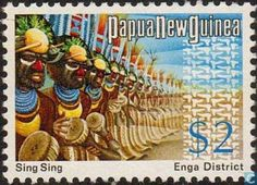 Postage Stamps - Papua New Guinea - Folklore Group