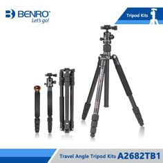 204.85$  Watch here - http://alivhx.worldwells.pw/go.php?t=32725466813 - Benro A2682TB1 Tripod Aluminum Tripod Kit Monopod For Camera With B1 Ball Head Carrying Bag Max Loading 12kg DHL Free Shipping 204.85$
