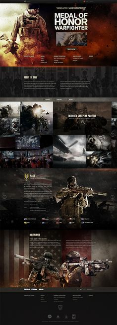 Cool Web Design, MEDAL OF HONOR. #webdesign #webdevelopment [http://www.pinterest.com/alfredchong/]