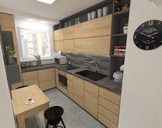 mieszkanie w bloku z wielkiej płyty - Średnia zamknięta wąska kuchnia w kształcie litery l, styl skandynawski - zdjęcie od JMJ Interiors