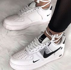 NIKE shoes sneakers street styles/outfit with Nike shoes/air-force NIKE shoes/outfit with Nike shoes/outfit style/sport/men/woman/Nike Air Force 1 Low Utility White Black Cute Nike Shoes, Cute Sneakers, Nike Air Shoes, Sneakers Nike, Vans Shoes, Sneakers Style, Boy Shoes, Nike Street Shoes, Shoes Jordans