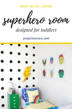 Rebecca of Petite Party Studio does it again with this awesome superhero room designed for her toddler.
