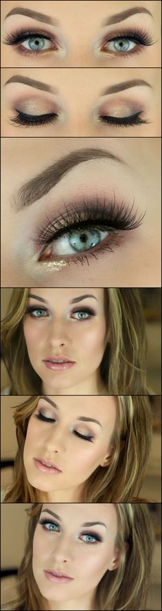 Eye Makeup Tips.Smokey Eye Makeup Tips - For a Catchy and Impressive Look Pretty Makeup, Love Makeup, Makeup Tips, Makeup Looks, Makeup Ideas, Perfect Makeup, Day Eye Makeup, Skin Makeup, Makeup Eyeshadow
