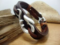 FREE SHIPPING  Mens Bracelet Men's Bracelet. Leather by DenizKumu, $27.00