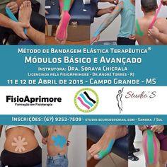 Curso de BANDAGEM ELÁSTICA TERAPÊUTICA B.E.T - ABRIL/2015 - Stúdio'S Cursos em Campo Grande/MS