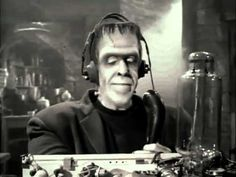 Herman Munster on the Ham Radio