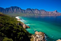 Gordon's Bay and Hottentots-Holland Mountains, Cape Town, South Africa