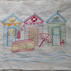 Beside the seaside embroidery pattern pdf by LiliPopo on Etsy