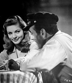 'To Have and Have Not,' 1944. Humphrey Bogart and Lauren Bacall.  This is the actress my parents named me after :)