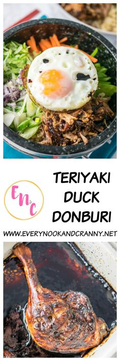 Teriyaki Duck Donburi just like Wagamama makes Donburi Recipe, Wagamama Recipe, Duck Recipes, Asian Recipes, Healthy Recipes, Ethnic Recipes, Game Recipes, Delicious Recipes, Tasty
