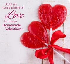 Add an extra pinch of love to these homemade valentines!