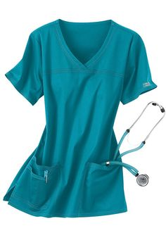 Cherokee Workwear Stretch shaped v-neck scrub top. - Scrubs and Beyond